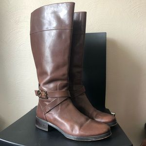 michael kors tan bryce leather riding boot